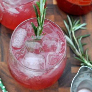 Delicious Blood Orange Rosemary Vodka Cooler
