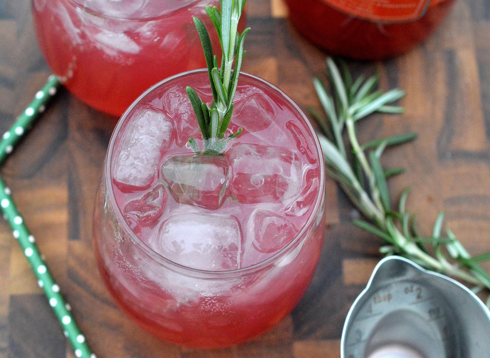 Delicious Blood Orange Rosemary Vodka Cooler