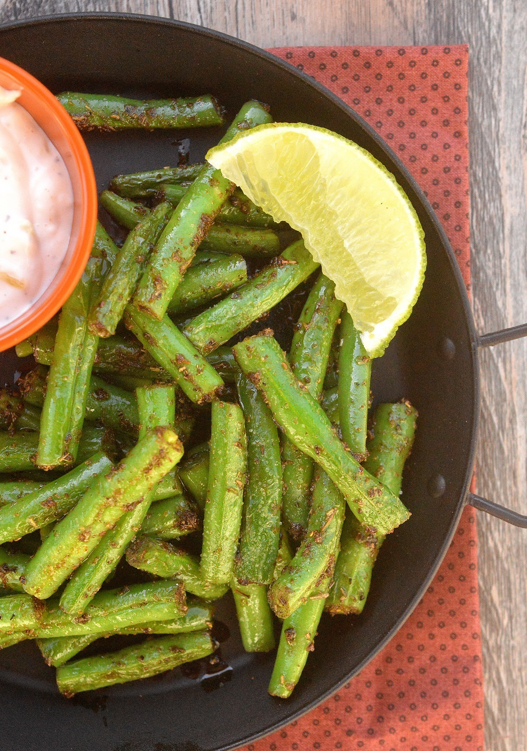 Cajun Green Beans - Delicious, healthy and just 2 ingredients to make!
