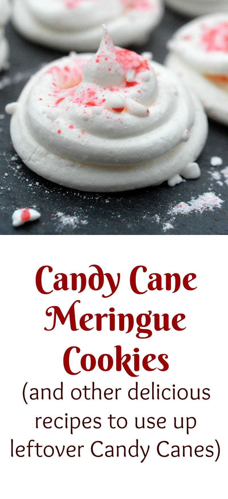 Candy Cane Meringue Cookies and other recipes for using up leftover candy canes