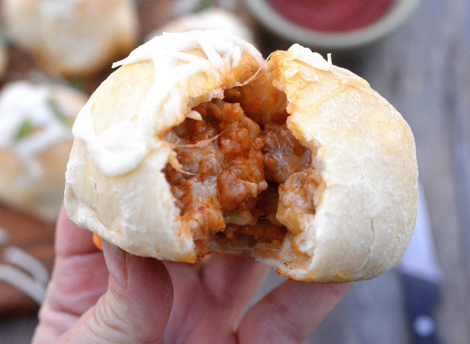 Cheese Sausage Bombs! Pizza dough stuffed with sausage and cheese makes for perfect game day grub!
