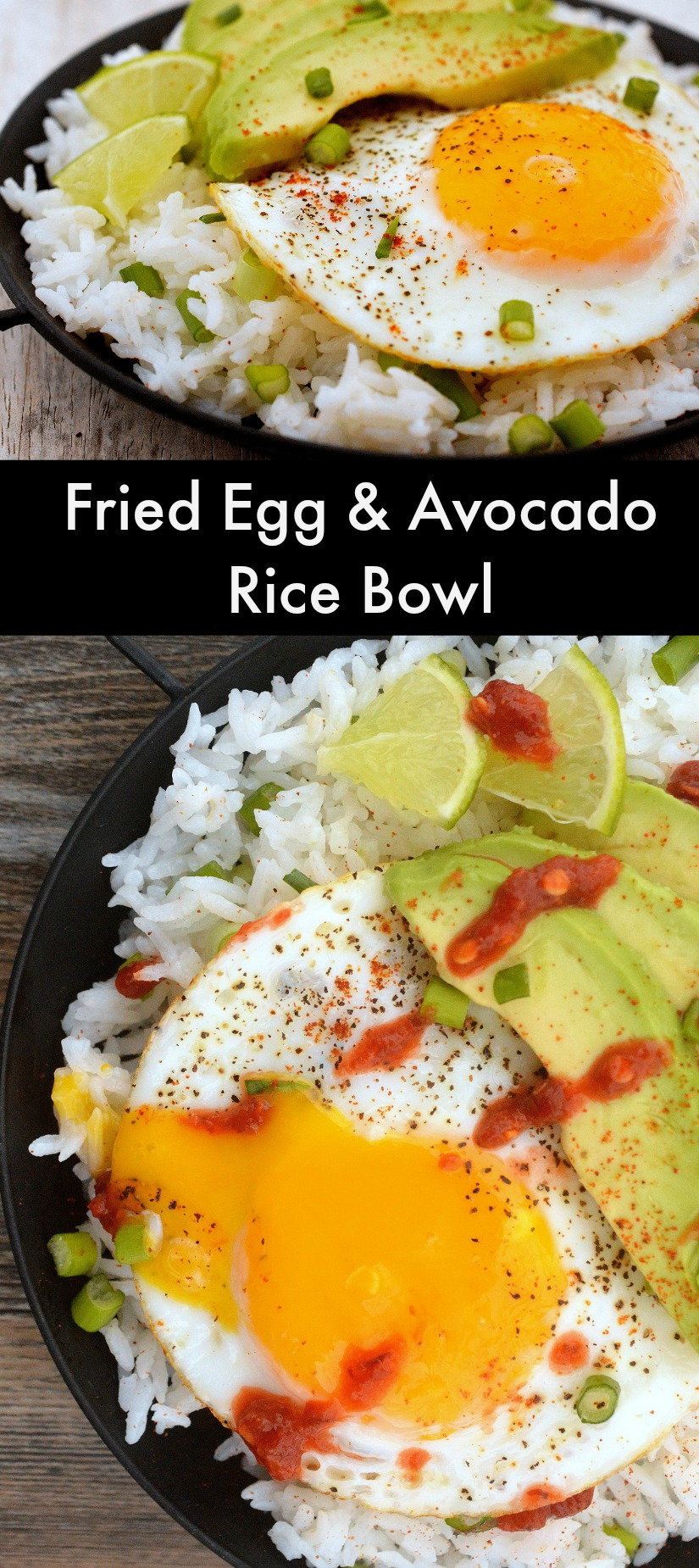 Fried Egg and Avocado Rice Bowl - Fast, satisfying & healthy!