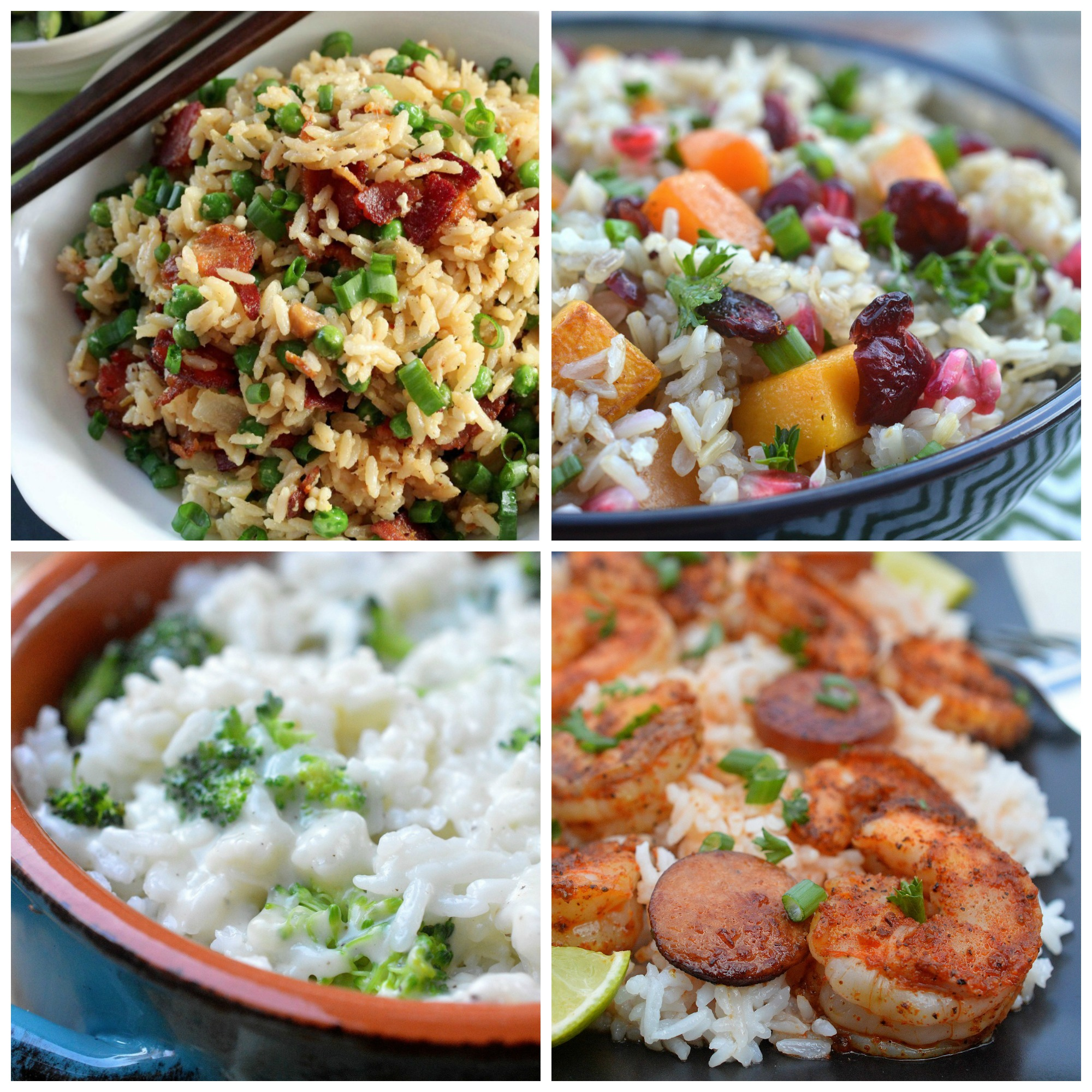Veetee Dine In Rice Dishes - Bacon Fried Rice, Fall Harvest Bowl, Cheesy Broccli & Rice & One Pot Cajun Shrimp & Sausage over Rice