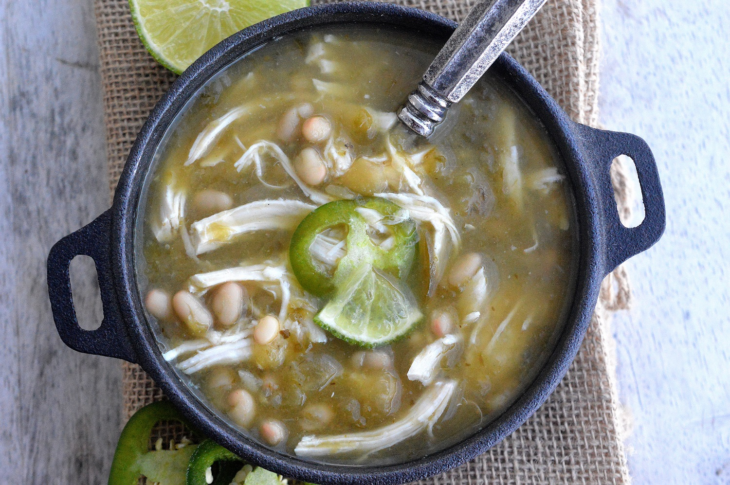Jalapeno Chicken Soup! A big delicious bowl of flavor-packed comfort!