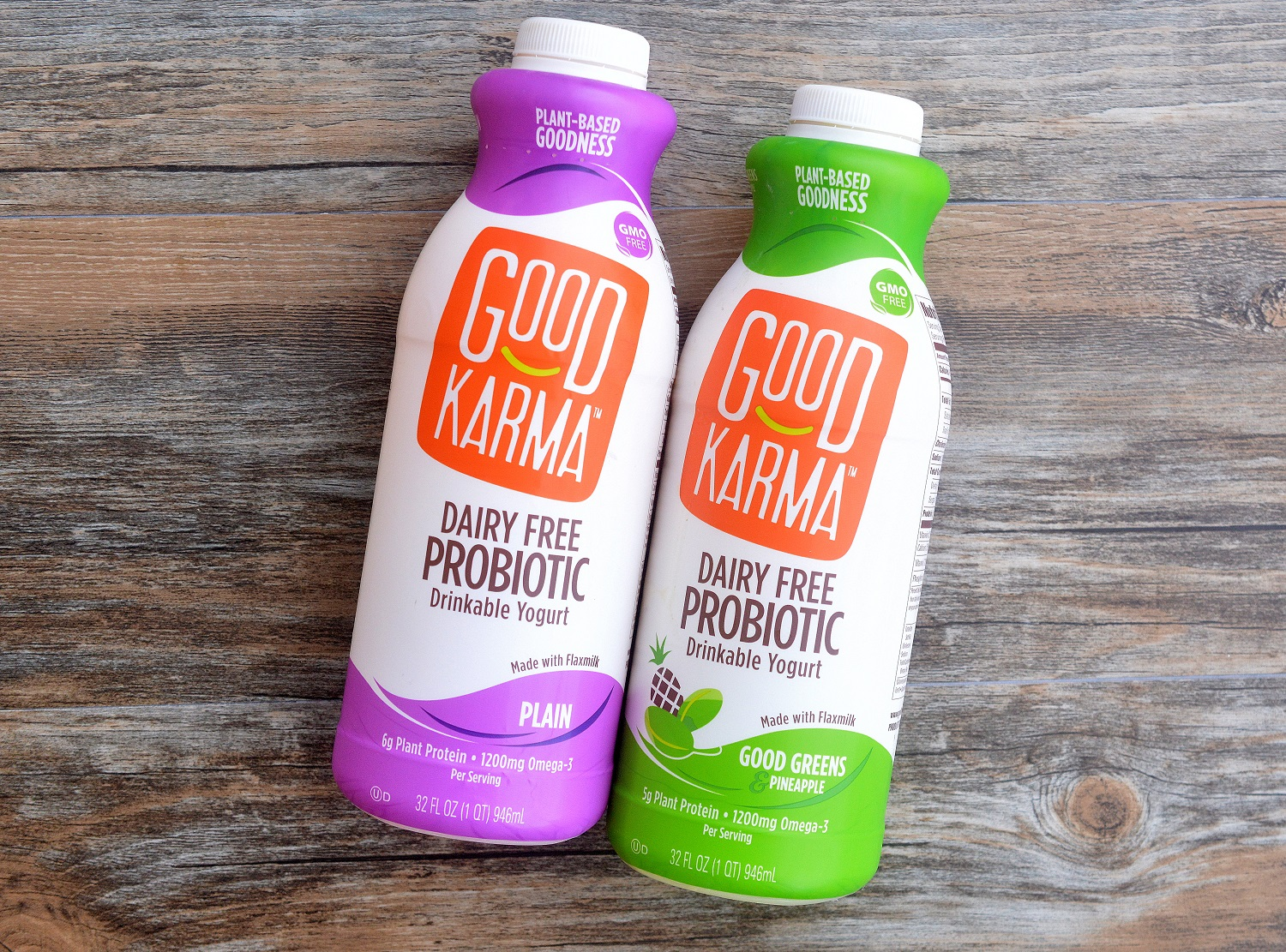 Good Karma Foods Plant Based Dairy Free Probiotic Drinkable Yogurts