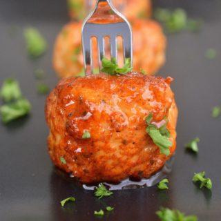 Sriracha Honey Mini Chicken Meatballs