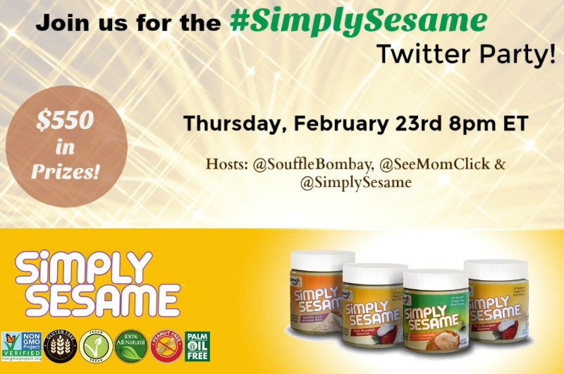 Simply Sesame Twitter party RSVP Here