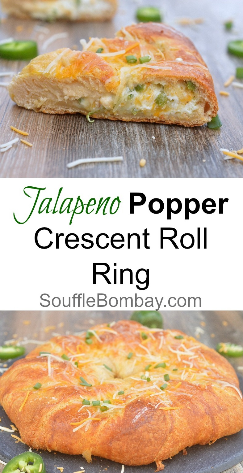 Jalapeno Popper Crescent Roll Ring - Yum!
