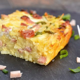 Ham & Cheese Hash Brown Bake (Recipes for Leftover Ham)