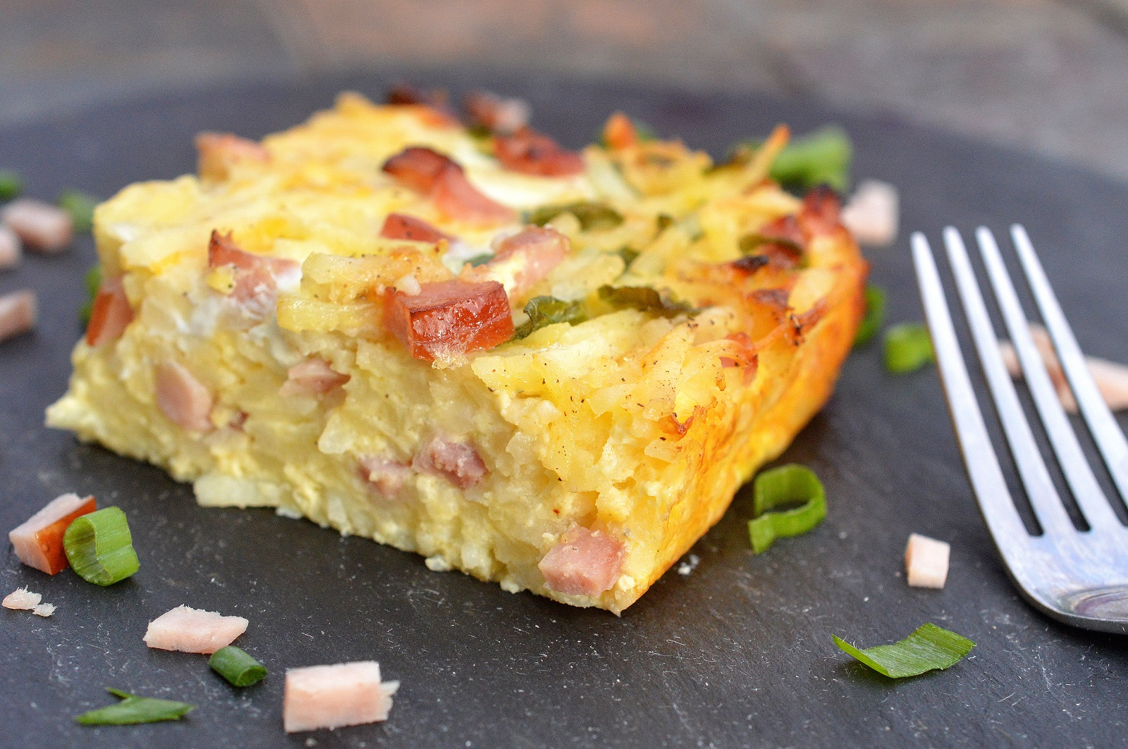 Ham & Cheese Hash Brown Bake