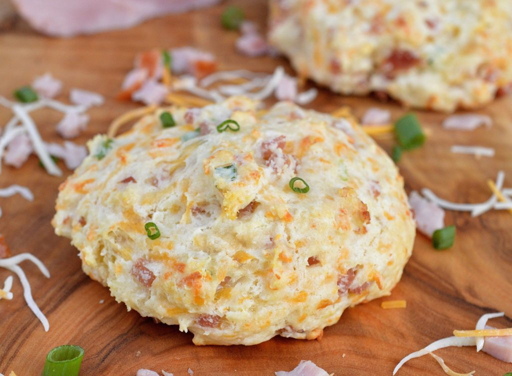 Ham and Cheese Buttermilk Biscuits