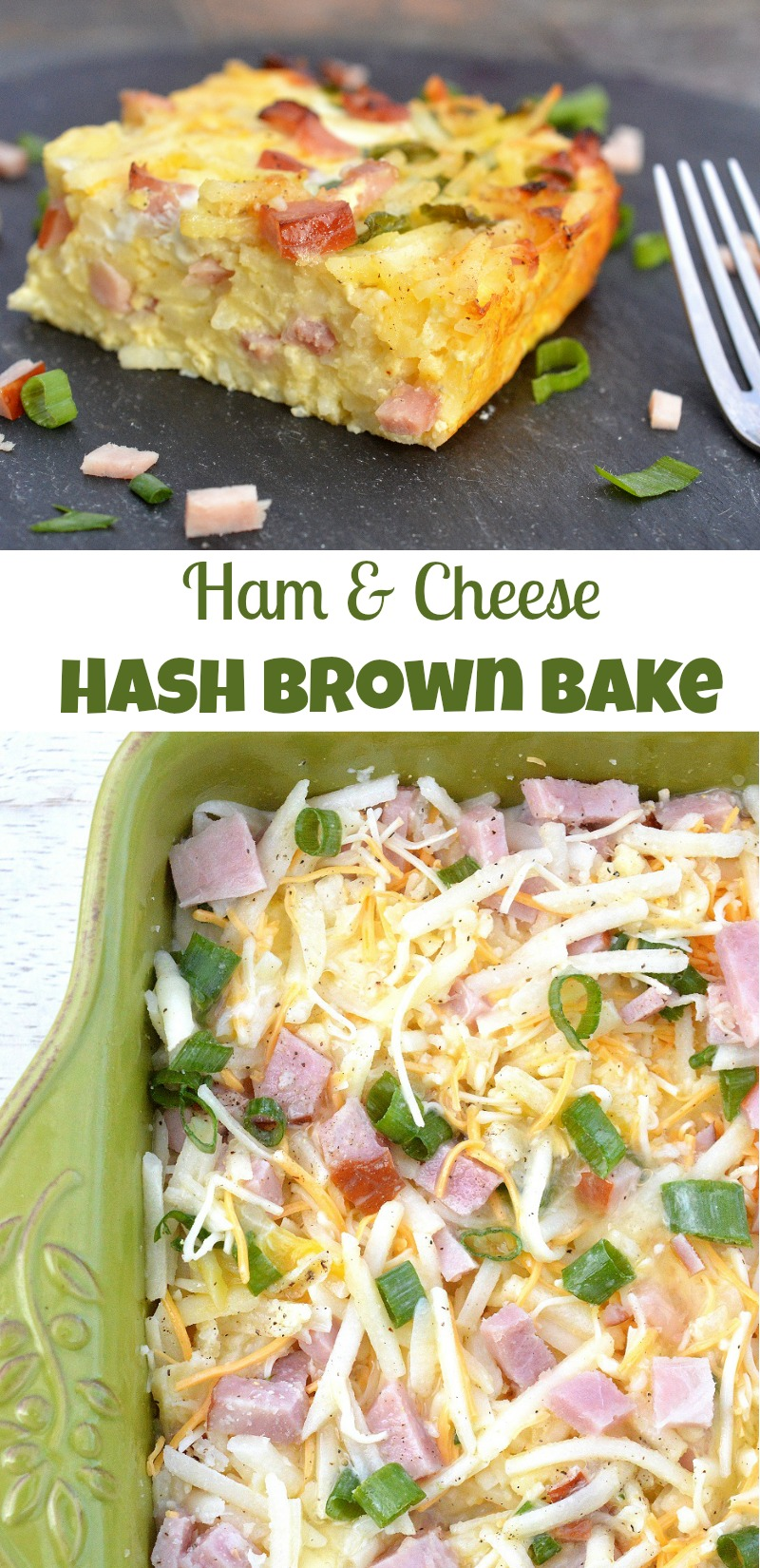 Ham and Cheese hash Brown Bake - Easy, delicious and a great way to use up left over ham!