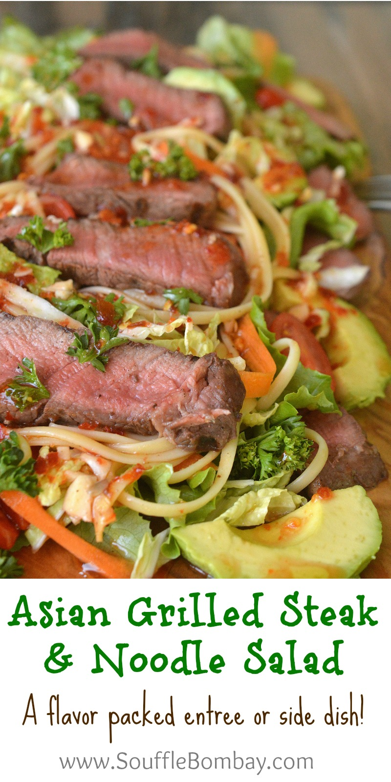 Asian Grilled Steak and Noodle Salad An impressive & flavor packed entree or side dish!
