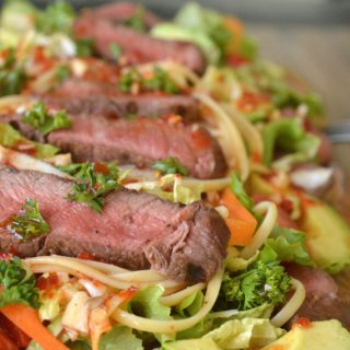 Asian Steak and Noodle Salad