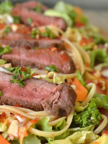 Asian Steak and Noodle Salad