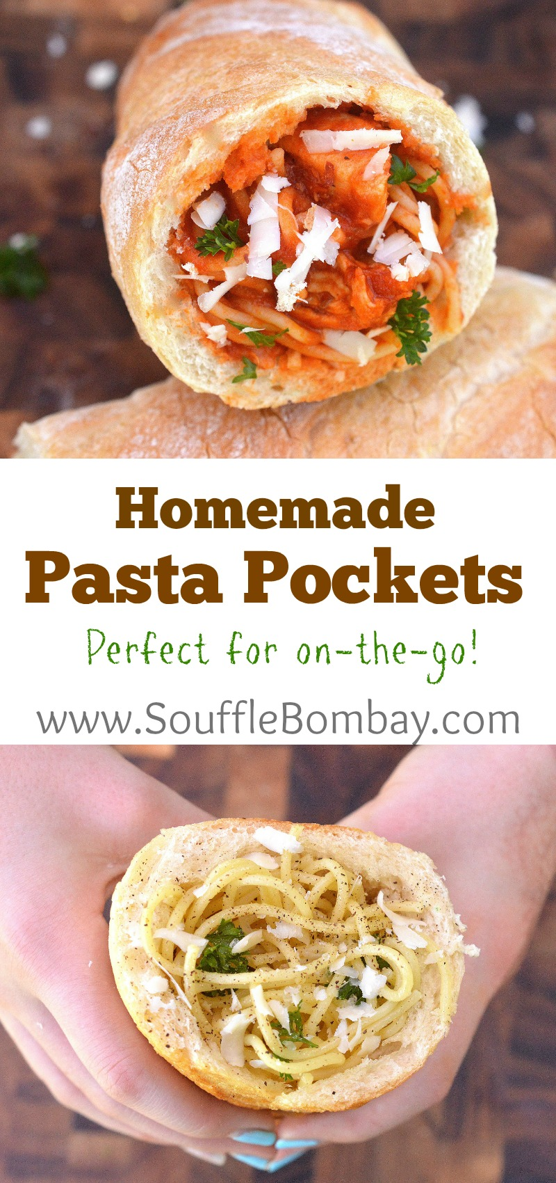 Homemade Pasta Pockets...Perfect for on the go. An inexpensive fun family meal you can feel good about serving your family!
