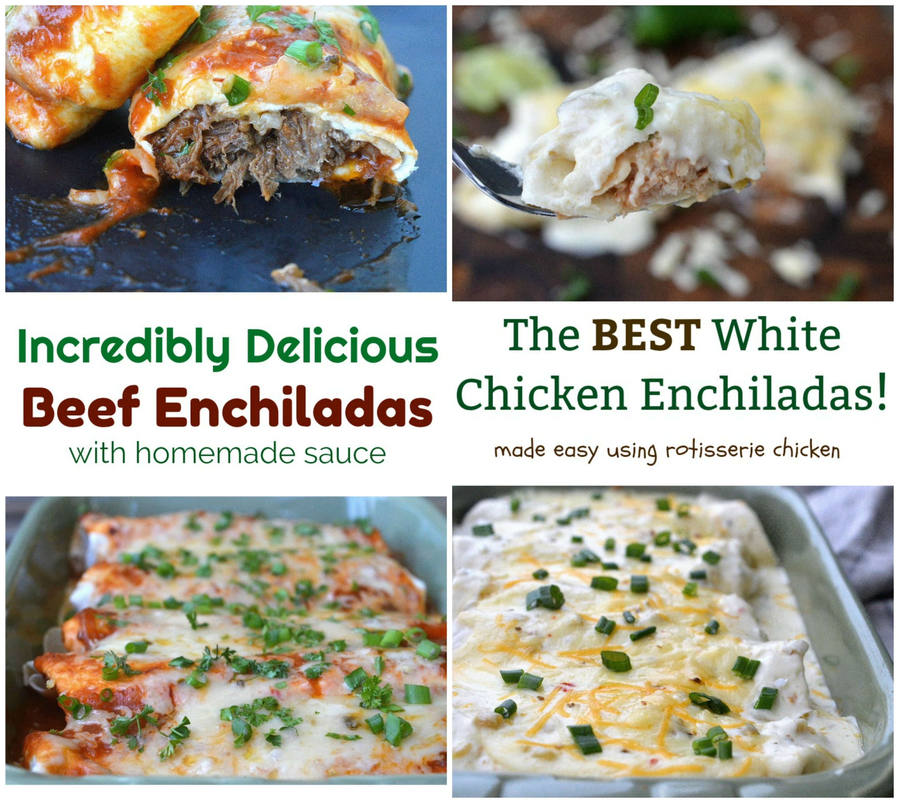 Seriously the BEST Beef and Chicken Enchilada Recipe to make at home!