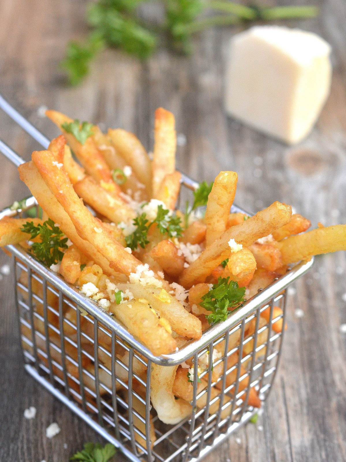 Beer Battered Garlic & Parmesan French Fries Easy to make using frozen beer battered fries! These are really good!