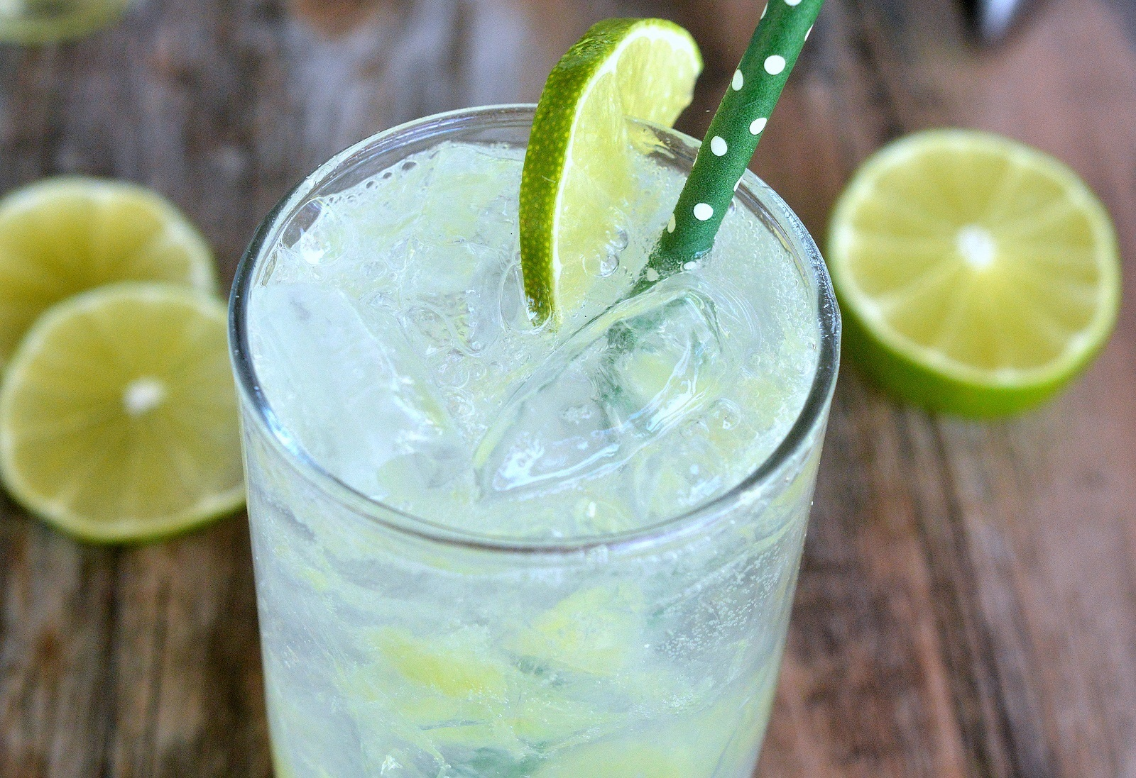 Homemade Lime Soda - Crisp & refreshing...Just minutes to make and you KNOW what's in it! PLUS, control the level of sweetness...Make it low carb or full sweet