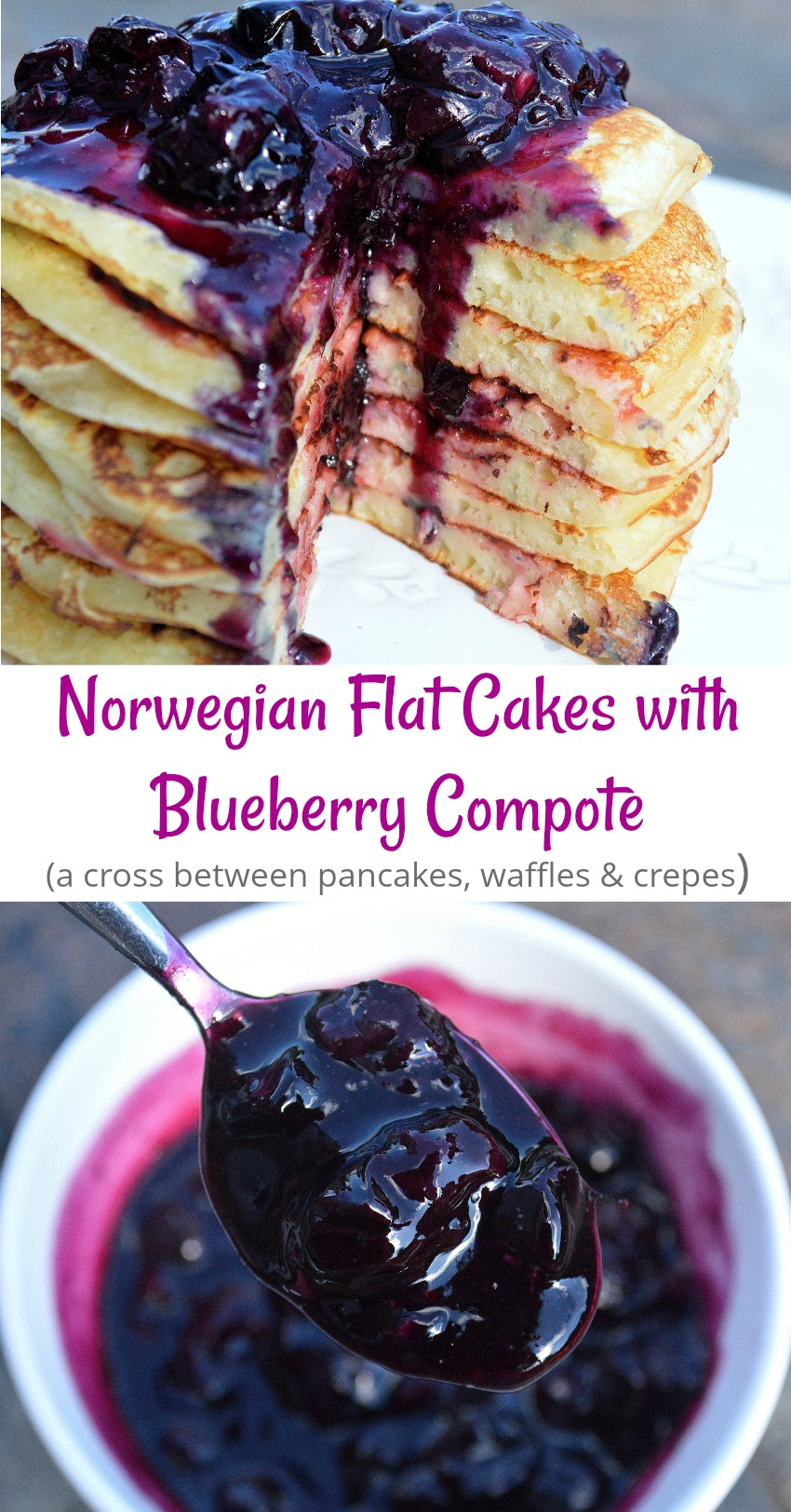 Norwegian Flat Cakes with Buleberry Compote...THIS will become a new family favorite!