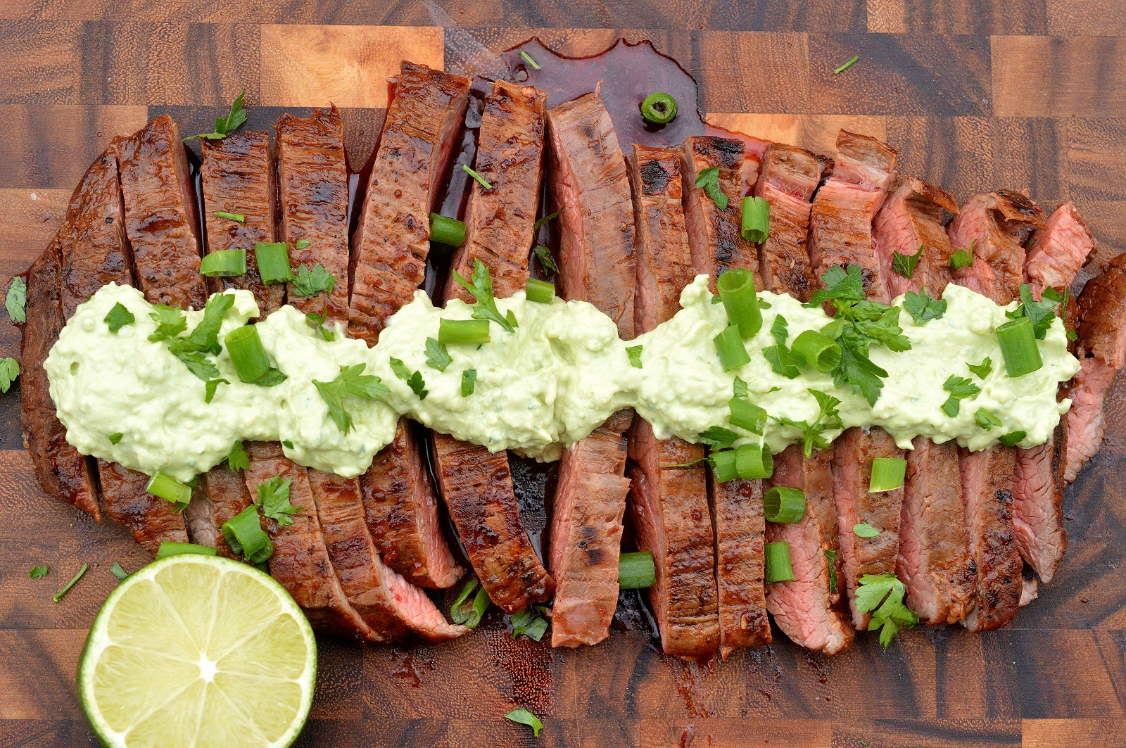 Chipotle Grilled Steak with Avocado Cream
