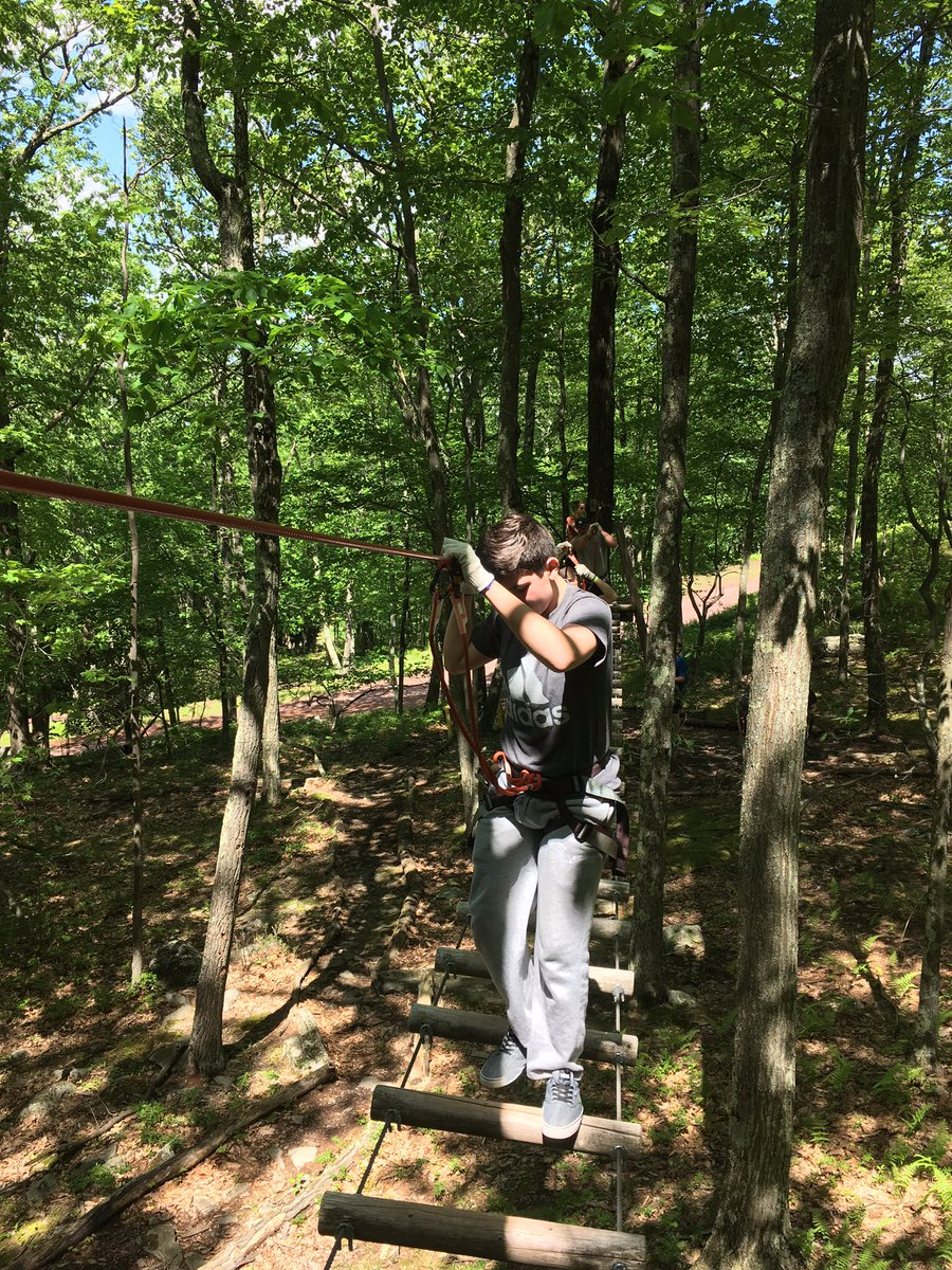 Treetop Obstacle Course at Skytop Lodge