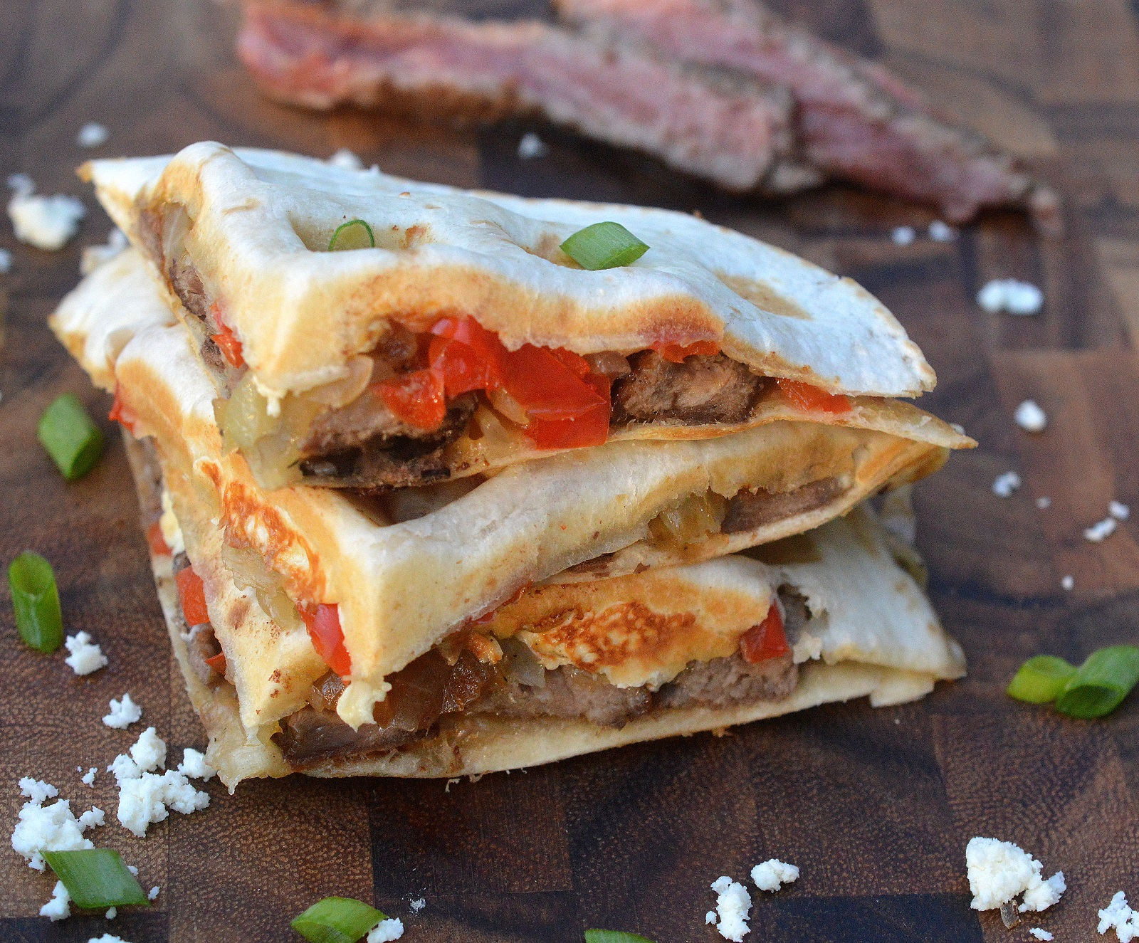 How to Make Steak Quesadillas in Your Waffle Maker its so easy and so delicious! No flipping required!