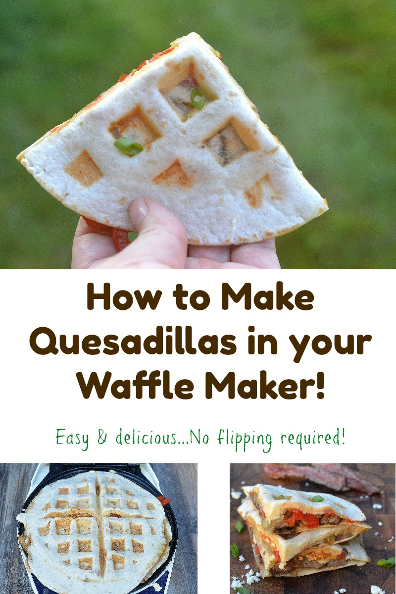 How to make Quesadillas in your waffle maker. SO easy! Crisp and delicous and NO flipping required...You can't mess this up!