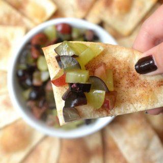 Grape Salsa with Cinnamon & Sugar Chips