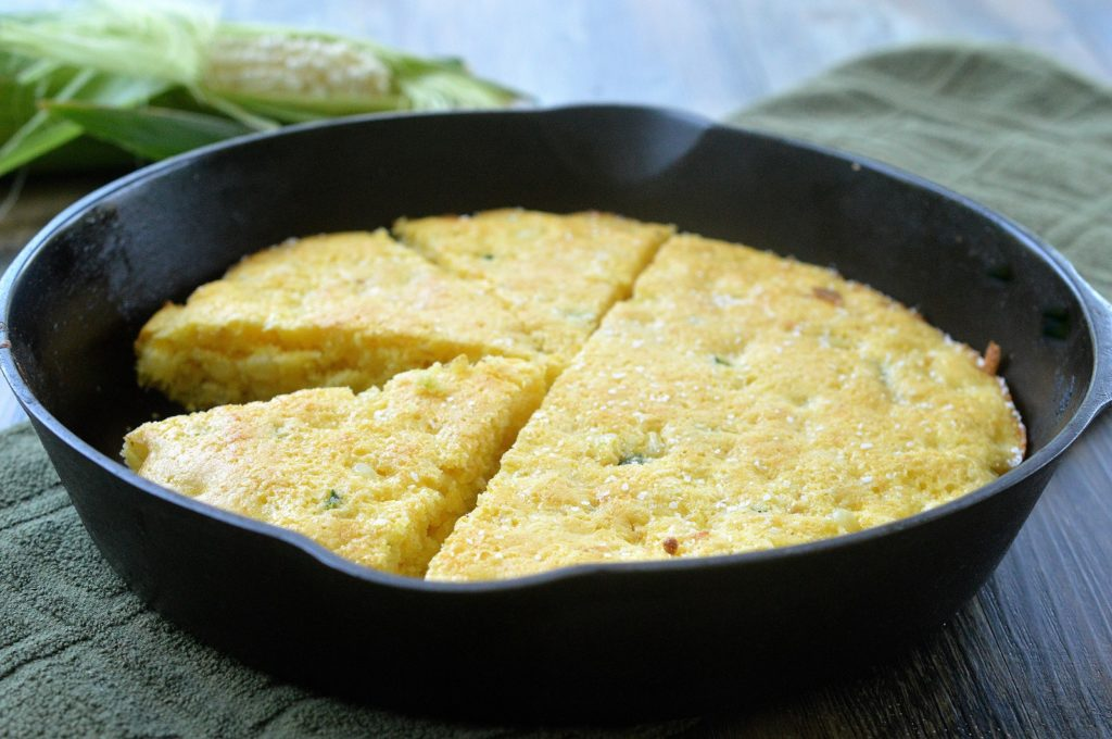 Oprah's Skinny Cornbread Recipe made in a cast iron skillet