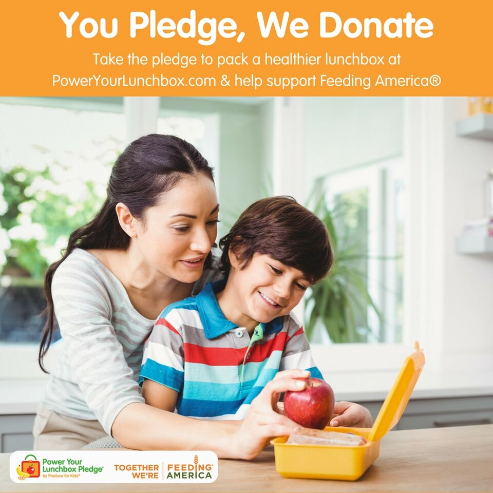 Take the Power Your Lunchbox Pledge and help feed families!