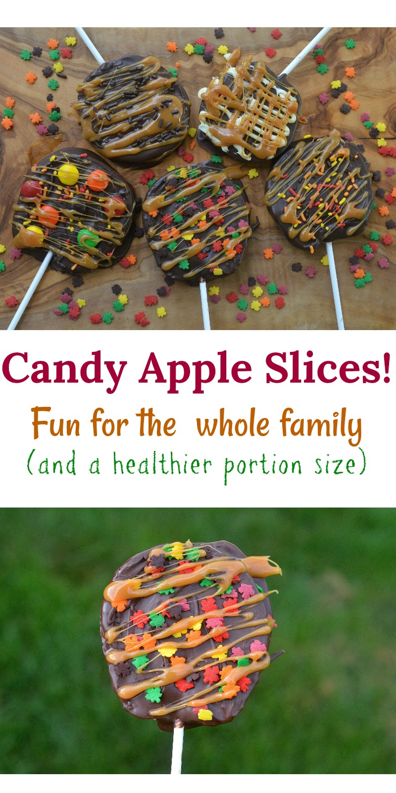 Candy Apple Slices! Fun for the whole family to make...easy too and a healthier portion size!