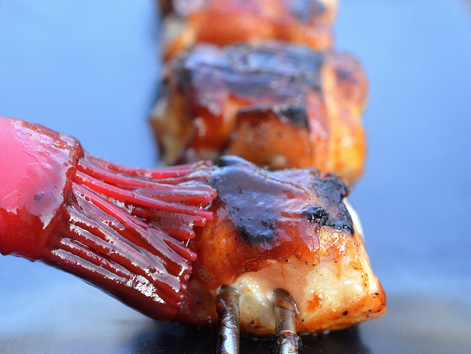 Grilled Bacon Wrapped Chicken Skewers are easy to make, full of flavor and gluten free!