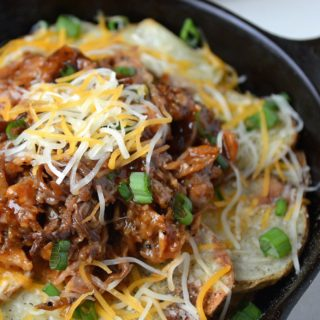 Pulled Pork Potato Nachos