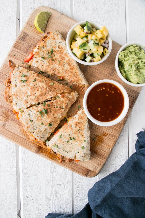 5 Ingredient Pulled Pork Quesadillas