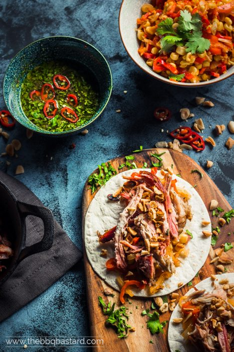 CUBAN STYLE PULLED PORK TACOS WITH MOJO VERDE