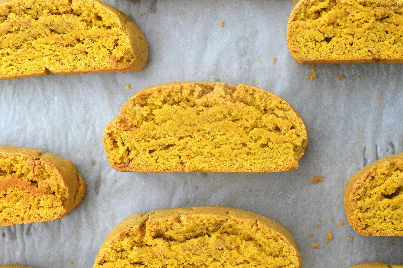 Delicious Pumpkin Biscotti Recipe drizzles with Cinnamon Glaze and Dark Chocolate, mmmmm!