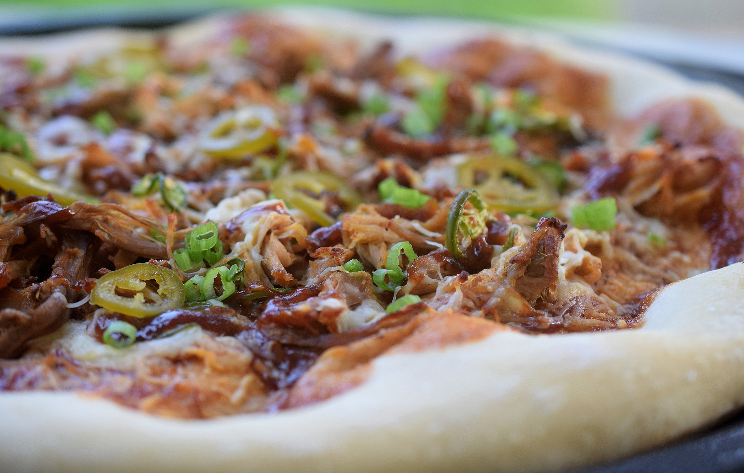 Pulled Pork Pizza, a family favorite!