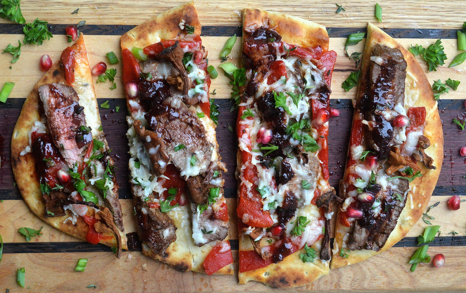 Steak & Roasted Red Pepper Flatbread