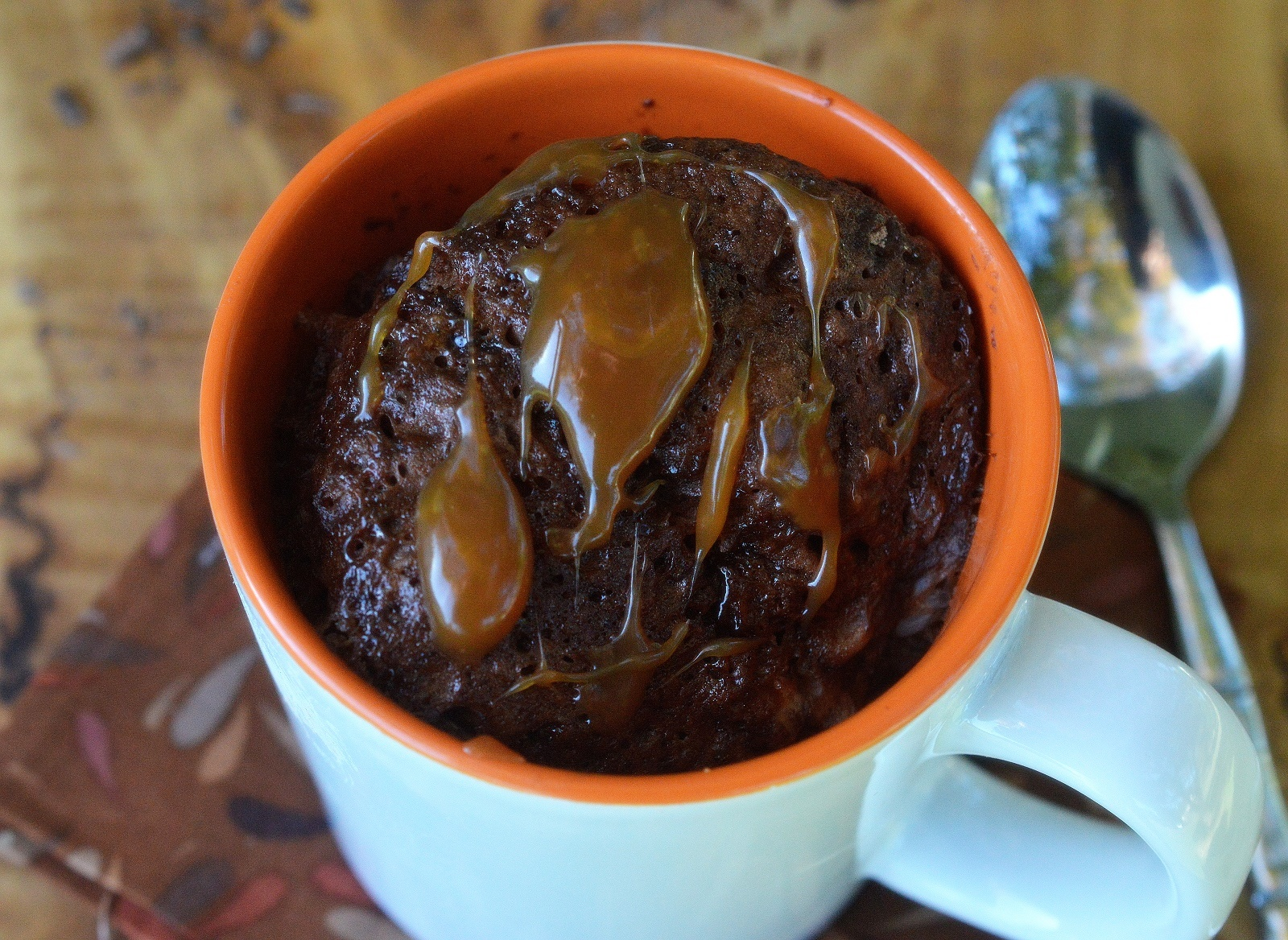 Recipe for a 3 Minute Mug Brownie, it doesn't get any easier than this! Warm and delicious...It hits the spot!