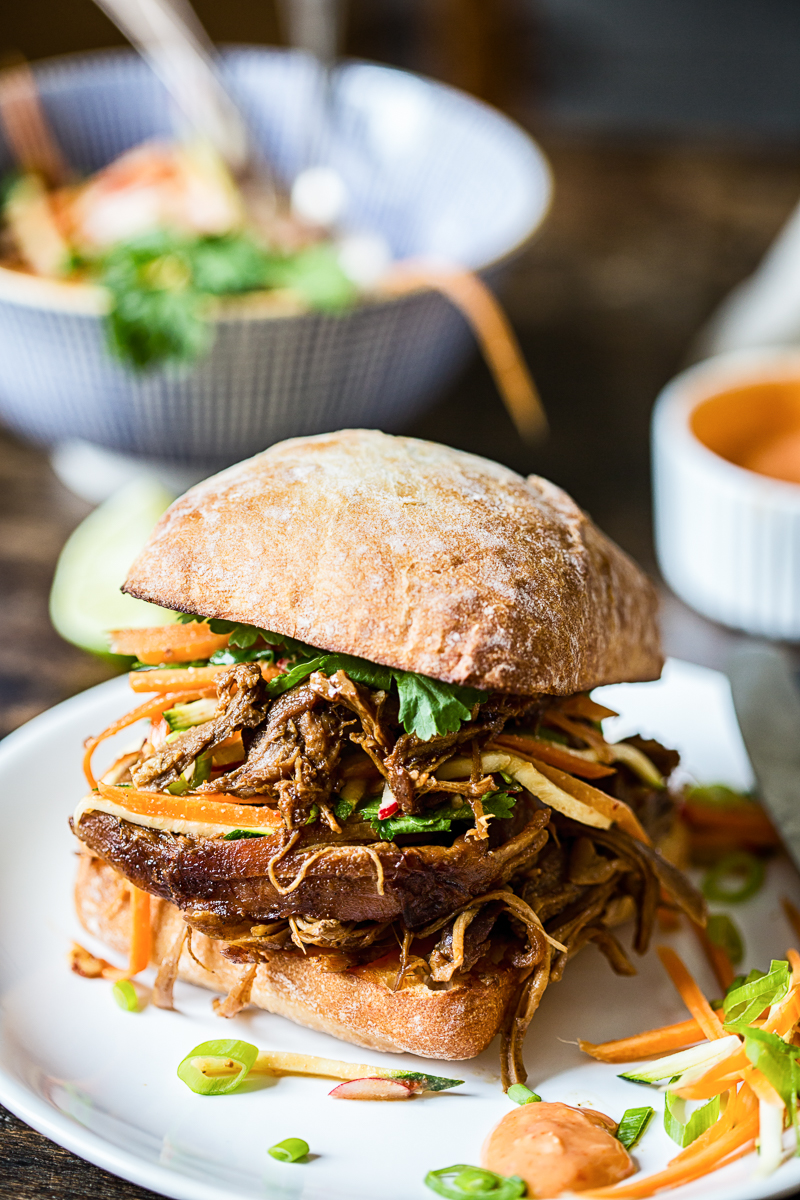 Asian Pulled Pork Sandwiches
