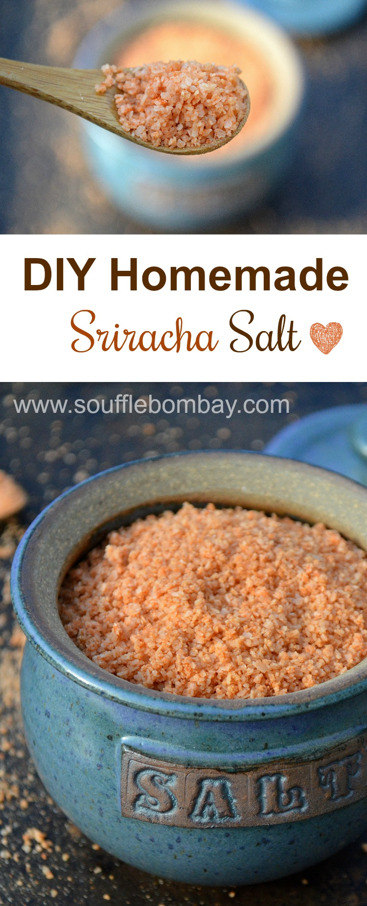 DIY 2 Ingredient Homemade Sriracha Salt makes a great hostess or holiday gift! It's a flavor explosion!