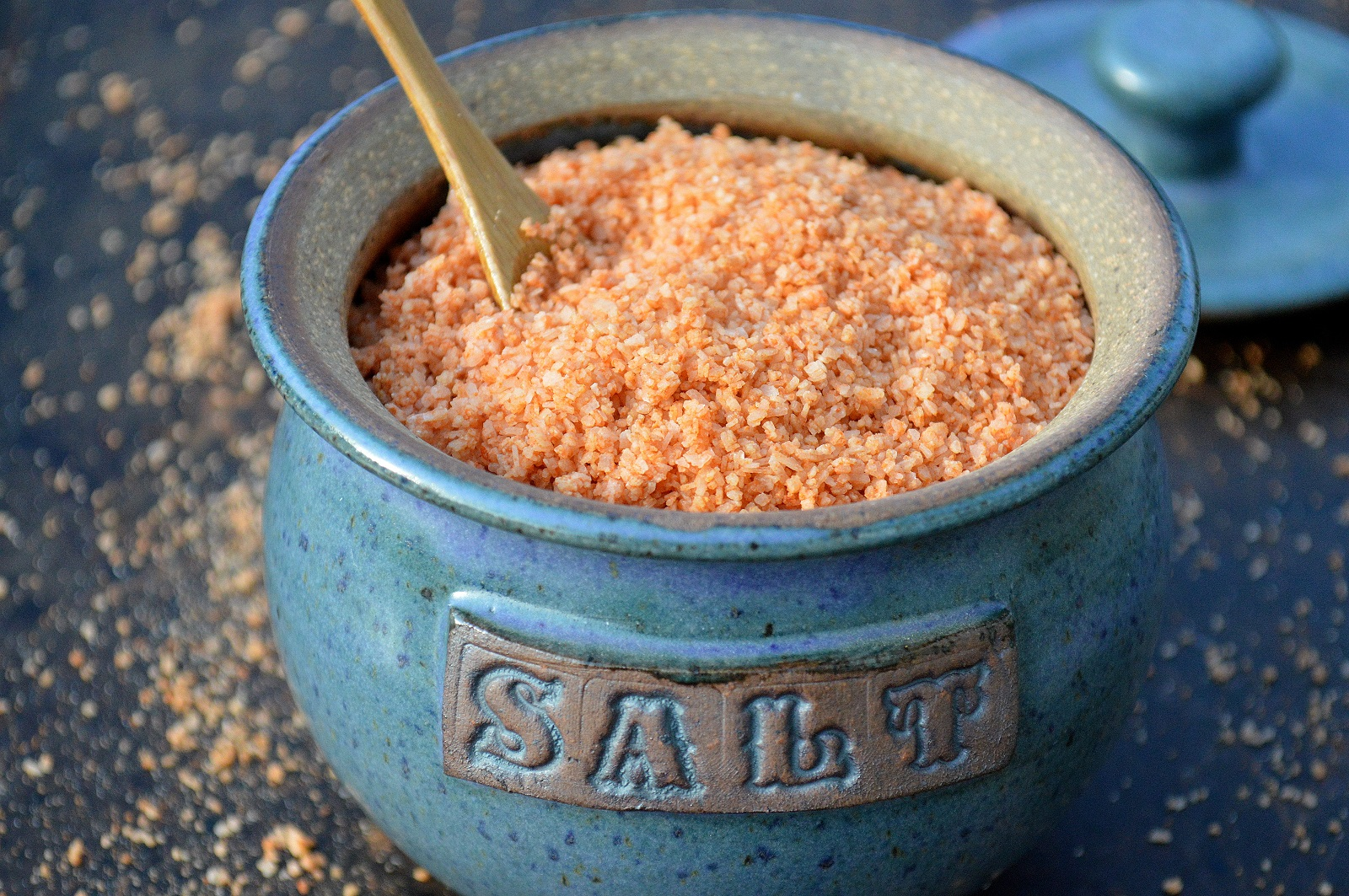 DIY Homemade Sriracha Salt makes a great hostess or holiday gift! It's a flavor explosion and just 2 ingredients!