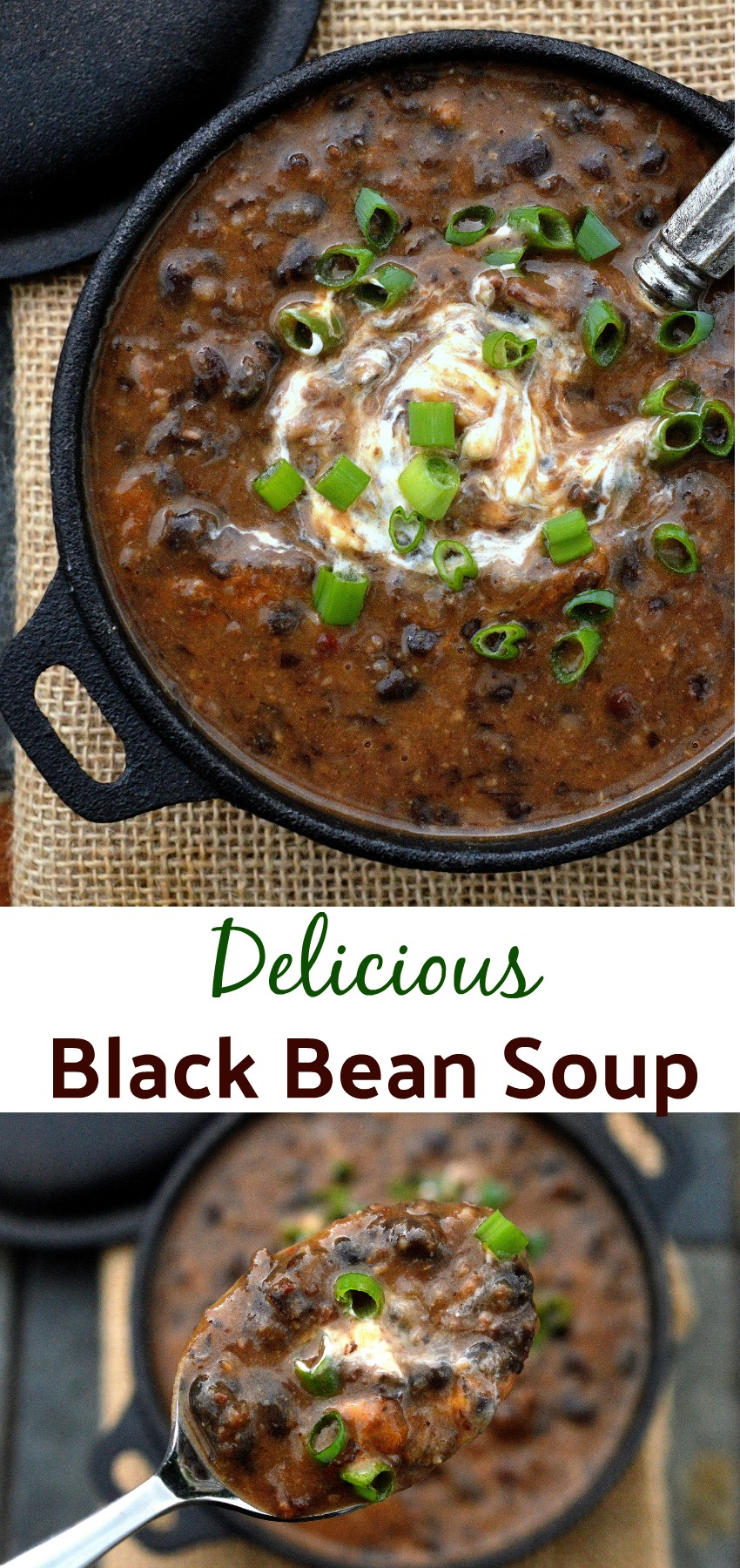 Delicious Black Bean Soup Recipe - Bacon gives this soup a great flavor!