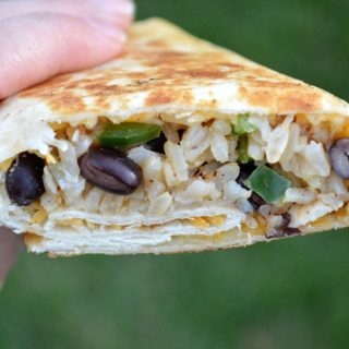 Leftover Turkey Recipe – Crispy Turkey & Rice Burritos