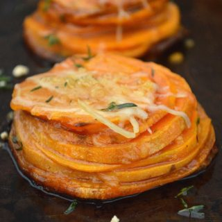 Maple Butter Sweet Potato Stacks