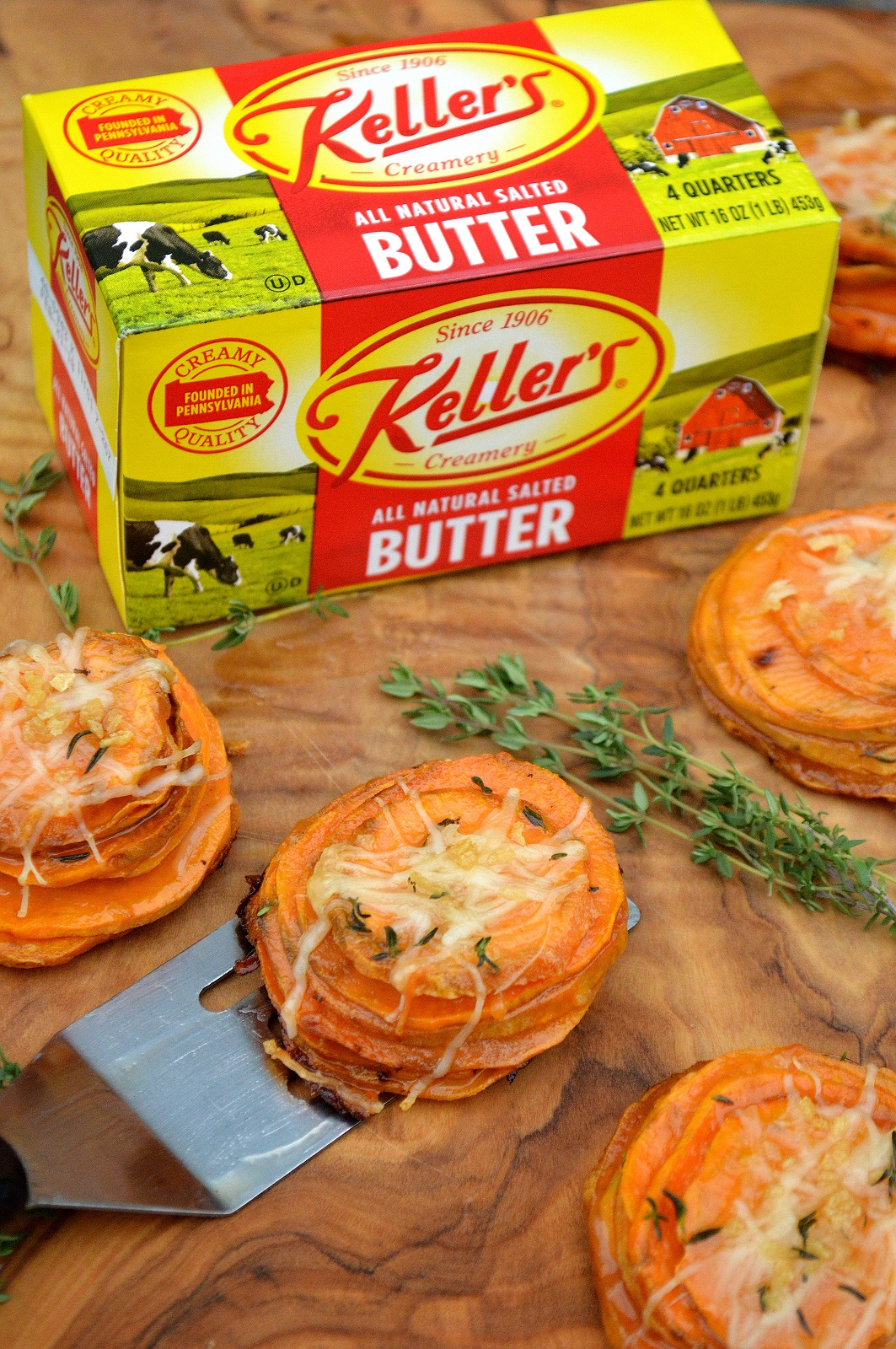Maple Butter Sweet Potato Stacks! Different, delicious, pretty and easier to make than you think!