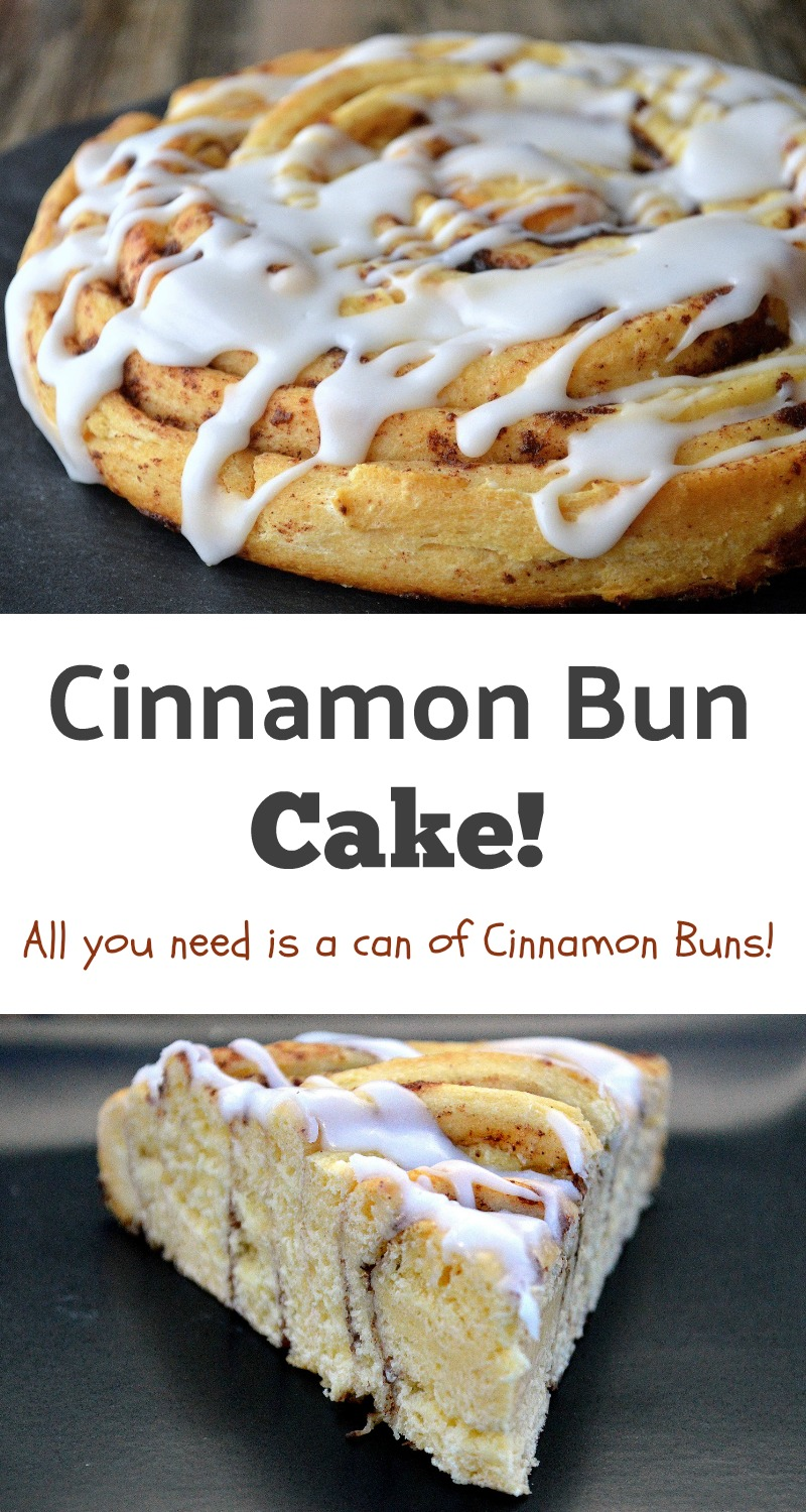All you need to make this Cinnamon Bun Cake is a can of Pillsbury Grands Cinnamon Buns. This is so easy, moist and delicious!