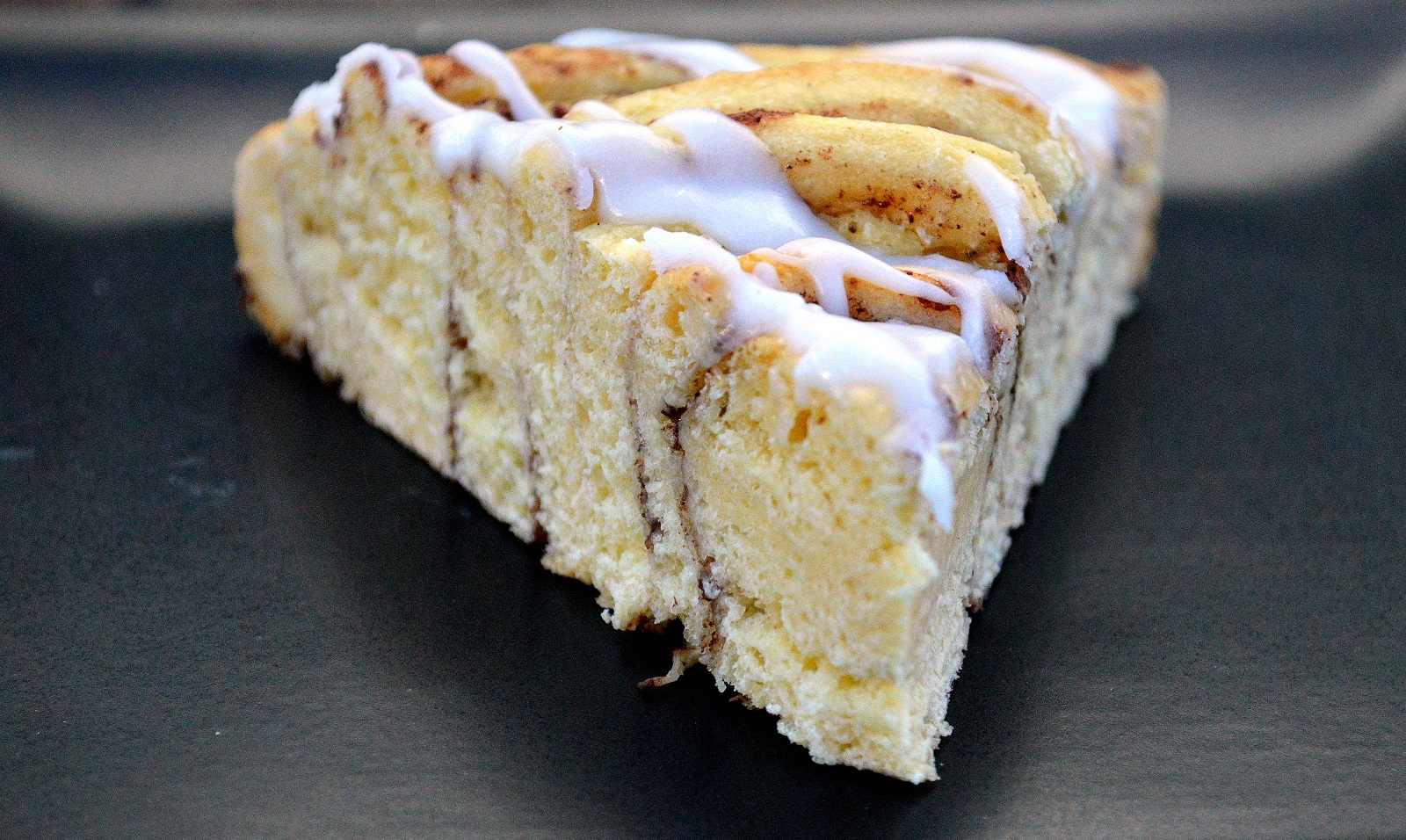 Cinnamon Bun Cake! Just pop the can, wrap, bake and ice!