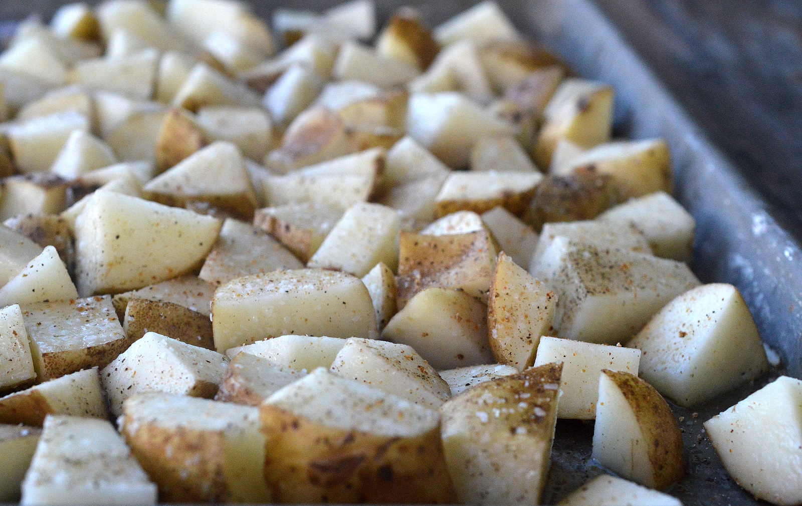 Loaded Sheet Pan Roasted Potatoes are easy and always a hit!